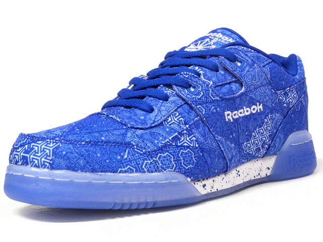"Reebok WORKOUT LO PLUS LMTEDT ""Peace and Harmony"" ""FITNESS HERITAGE"" ""LIMITED EDITION for CERTIFIED NETWORK""  BLU/WHT (CN2247)"