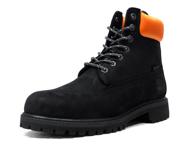 "Timberland 6INCH PREMIUM WATERPROOF BOOTS ""PORTER""  BLK/ORG (TB0A1PC3)"