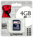 Kingston 4GB Class4 SDHC card (KF-C084G-3A) 0740617201406fs3gm