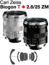 Carl Zeiss Biogon T*F2.8/25mm ZM-Mount Lens, black silver color / 1 ~ 3 business days after shipping / delivery TBD reserved' fs3gm