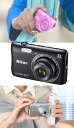 """Digital camera Nikon COOLPIX S3700 """"quick delivery-2 business days after shipping ' in easy-to-carry thin body can take beautiful night even telephoto! Compact digital camera make-up effects and even fuller [fs04gm], [03P27Mar15]"""