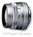 "Pentax FA77mmF1.8 Limited Silver ""delivery TBD reserved' fs3gm"