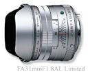 3 year insurance with PENTAX FA31mmF1.8AL Silver Limited [fs04gm], [02P06Dec14]