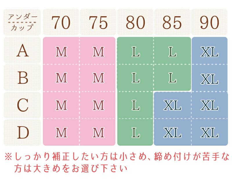 らくふわブラ/ノンワイヤー/24時間らくらくブラ/サイズ