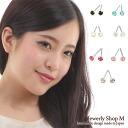 チタンポストスワロフ grain earrings (M)