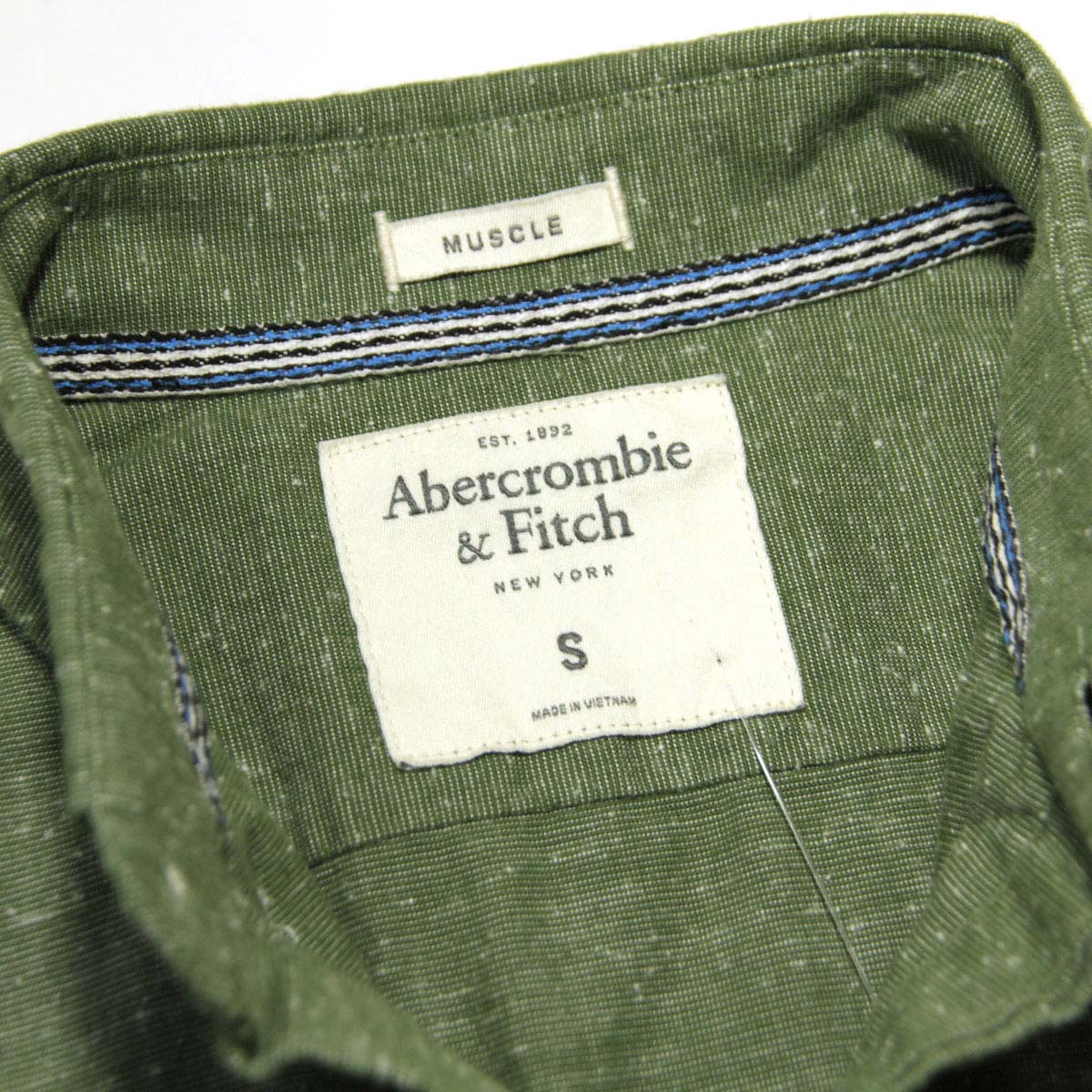 アバクロ Abercrombie&Fitch 正規品 メンズ 長袖シャツ TEXTURED SHIRT 125-168-2156-333