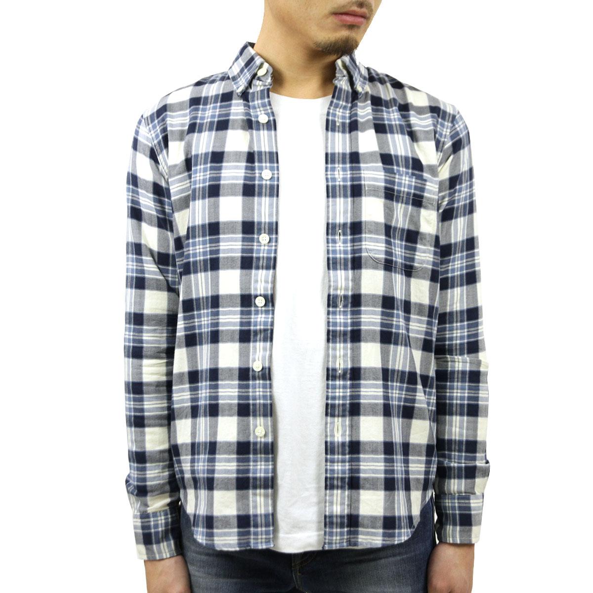 アバクロ Abercrombie&Fitch 正規品 メンズ 長袖シャツ Plaid Herringbone Button-Up Shirt 125-168-2372-228