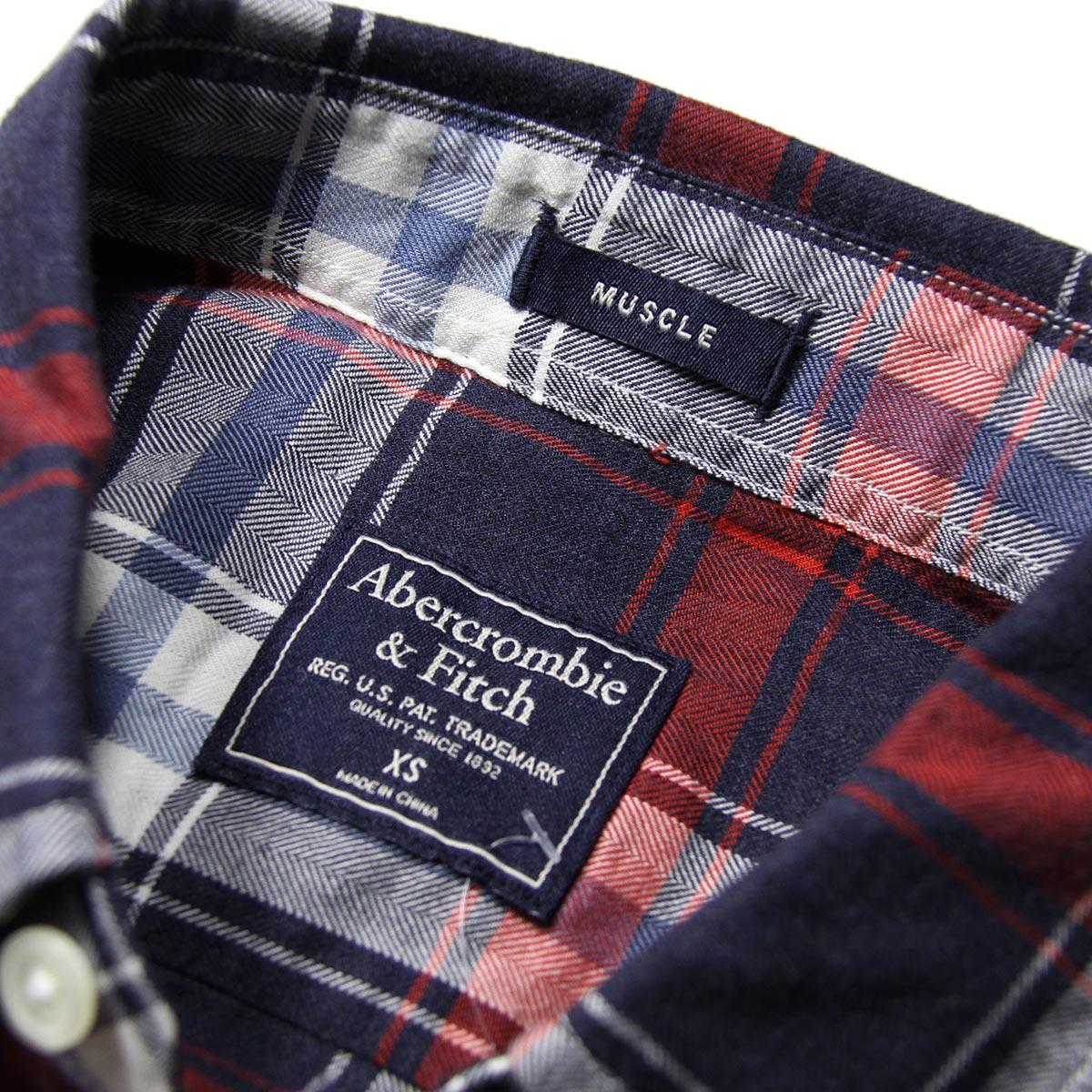 アバクロ Abercrombie&Fitch 正規品 メンズ 長袖シャツ Plaid Herringbone Button-Up Shirt 125-168-2371-208