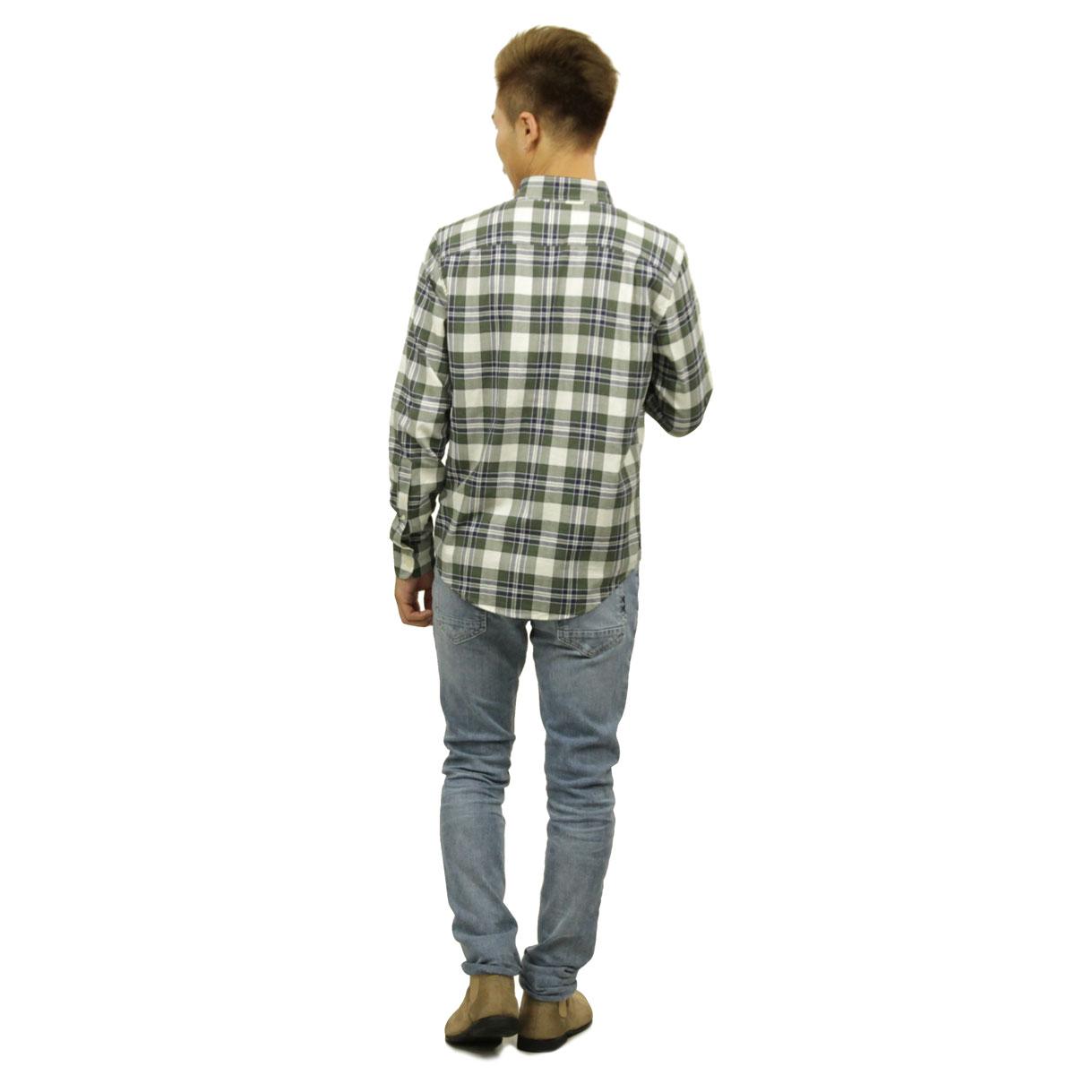 アバクロ Abercrombie&Fitch 正規品 メンズ 長袖シャツ Plaid Herringbone Button-Up Shirt 125-168-2373-308