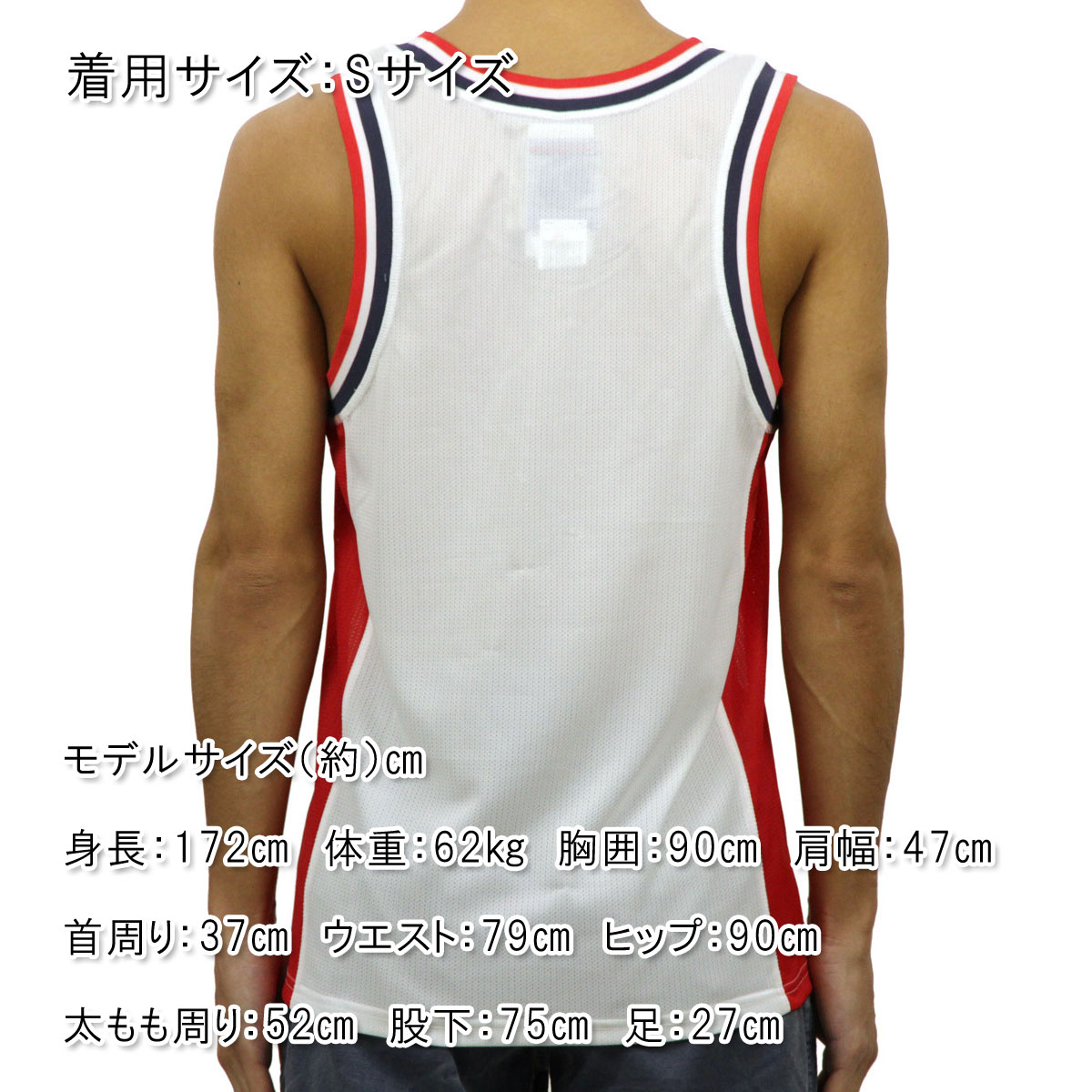 チャンピオン CHAMPION 正規品 メンズ タンクトップ TANK TOP T8831P City Mesh Jersey 0G6-WHITE/TEAMREDSCARLET