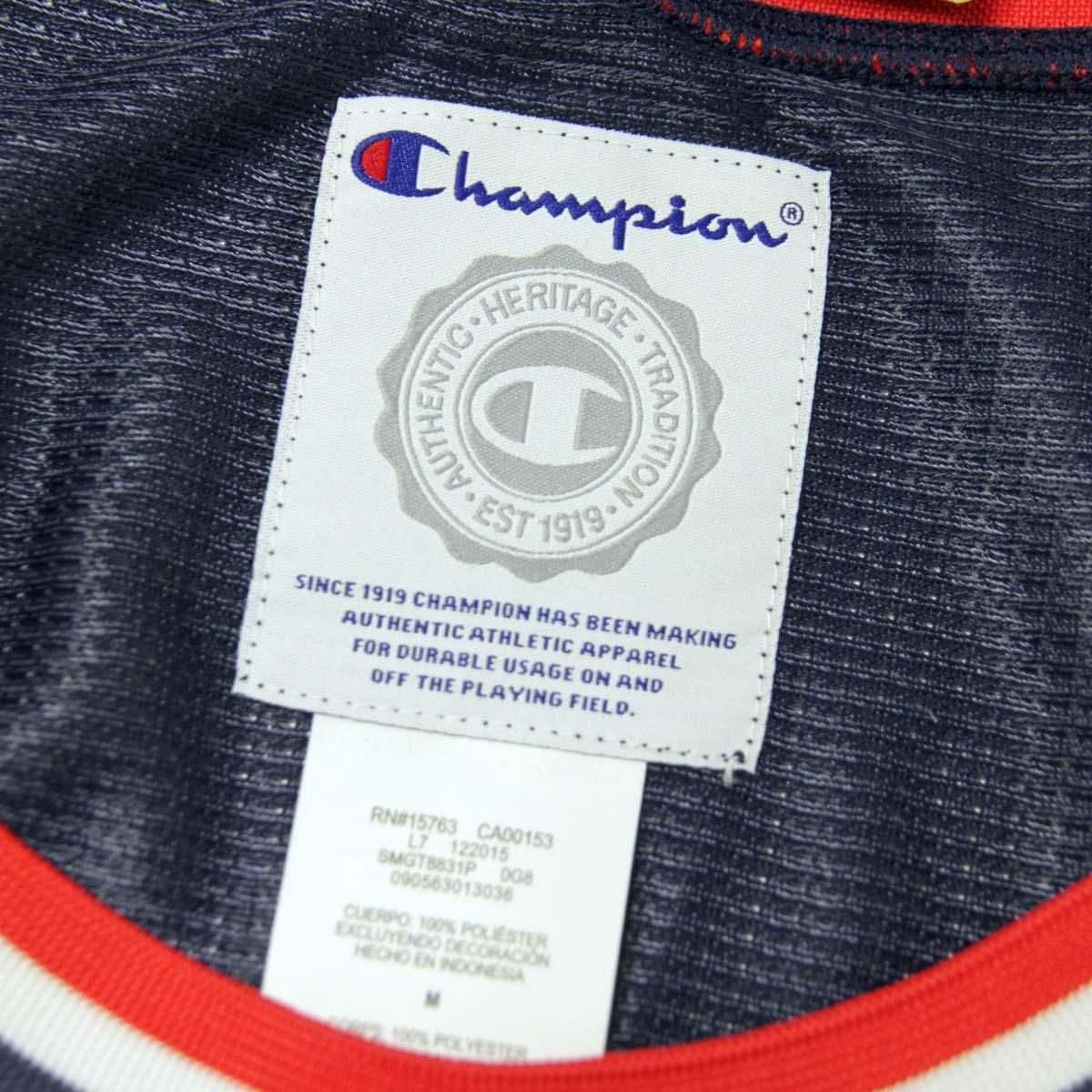 チャンピオン CHAMPION 正規品 メンズ タンクトップ TANK TOP T8831P City Mesh Jersey 0G8-IMPERIALINDIGO/TEAMRED