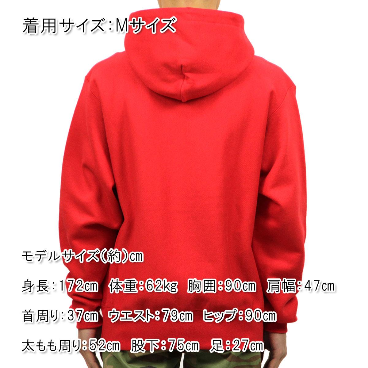チャンピオン CHAMPION 正規品 メンズ パーカー PULLOVER PARKA S4968P Reverse Weave PO Hood (graphics) W3J-TEAMREDSCARLET #549414 Center CHAMPION script