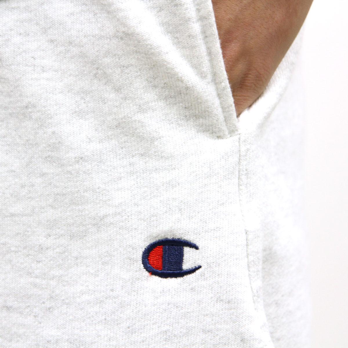チャンピオン CHAMPION 正規品 メンズ ハーフパンツ SWEAT HALF PANTS P4971 Reverse Weave Pant w/ pockets VU6-GFSSILVERGREY