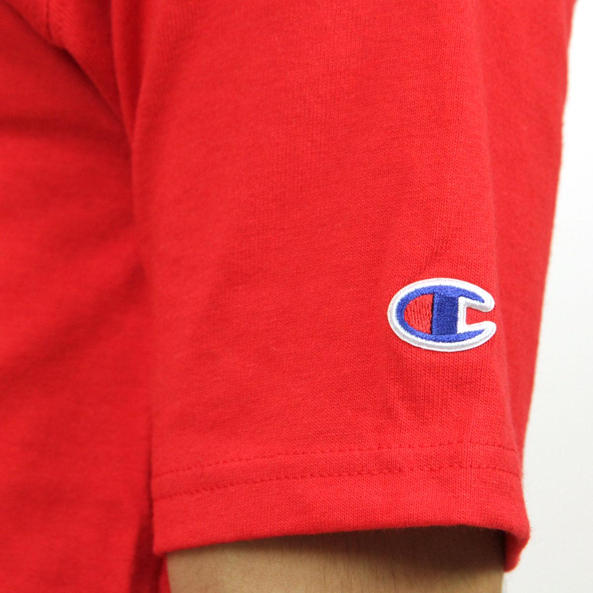 チャンピオン CHAMPION 正規品 メンズ 半袖Tシャツ CREW TEE T1919 Heritage Tee W3J-TEAMREDSCARLET