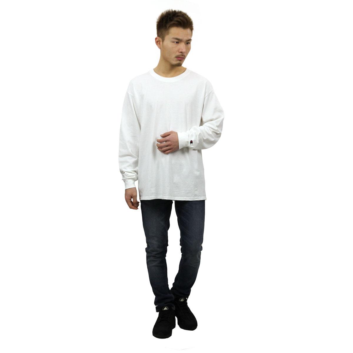 チャンピオン CHAMPION 正規品 メンズ 長袖Tシャツ L/S TEE T2229 Cotton Long Sleeve Tee 045-WHITE C logo on left sleeve