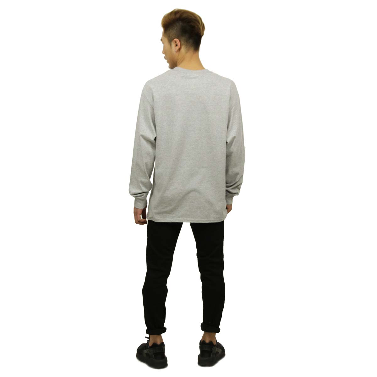 チャンピオン CHAMPION 正規品 メンズ 長袖Tシャツ L/S TEE T2229 Cotton Long Sleeve Tee 806-OXFORDGREY C logo on left sleeve