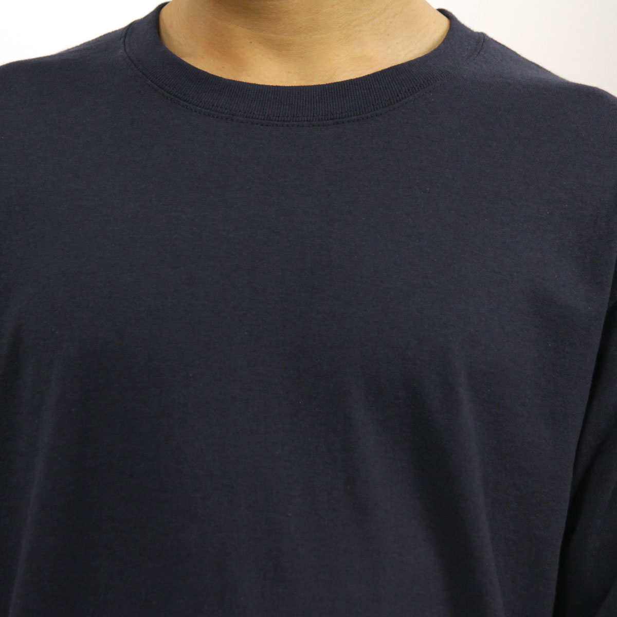 チャンピオン CHAMPION 正規品 メンズ 長袖Tシャツ L/S TEE T2229 Cotton Long Sleeve Tee 031-NAVY C logo on left sleeve