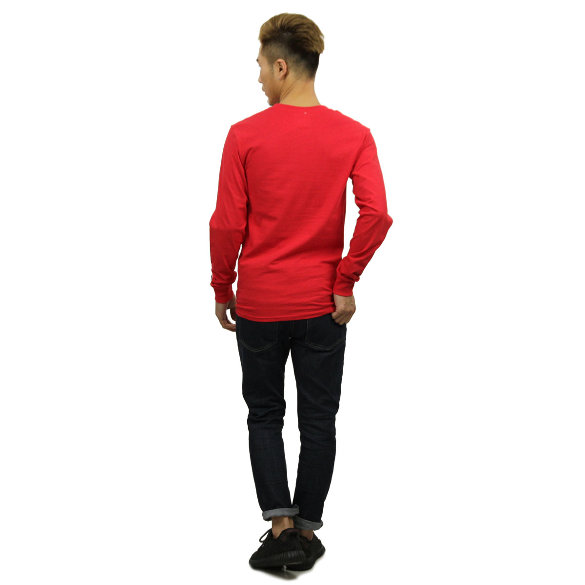 チャンピオン CHAMPION 正規品 メンズ 長袖Tシャツ L/S TEE T2229 Cotton Long Sleeve Tee W3J-TEAMREDSCARLET C logo on left sleeve
