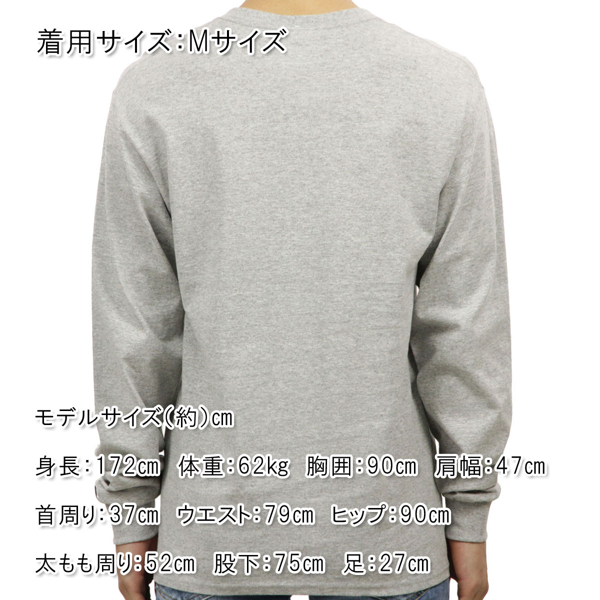 チャンピオン CHAMPION 正規品 メンズ 長袖Tシャツ L/S TEE T2229P Cotton Long Sleeve Tee 806-OXFORDGREY #549506 PATRIOTIC C LS