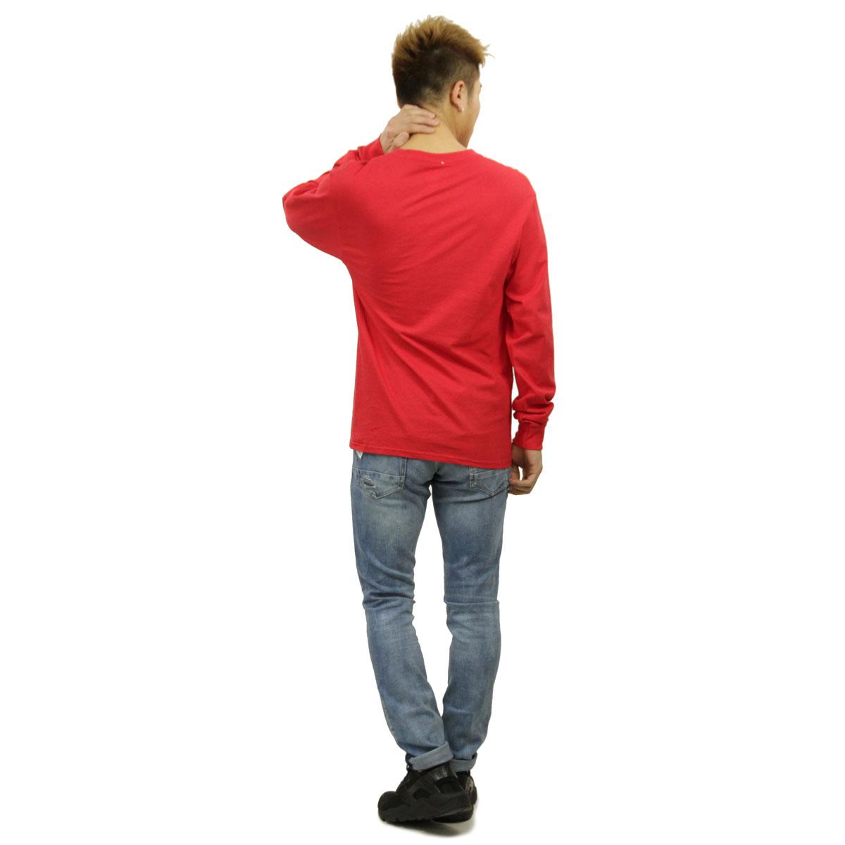 チャンピオン CHAMPION 正規品 メンズ 長袖Tシャツ L/S TEE T2229P Cotton Long Sleeve Tee W3J-TEAMREDSCARLET #549506 PATRIOTIC C LS