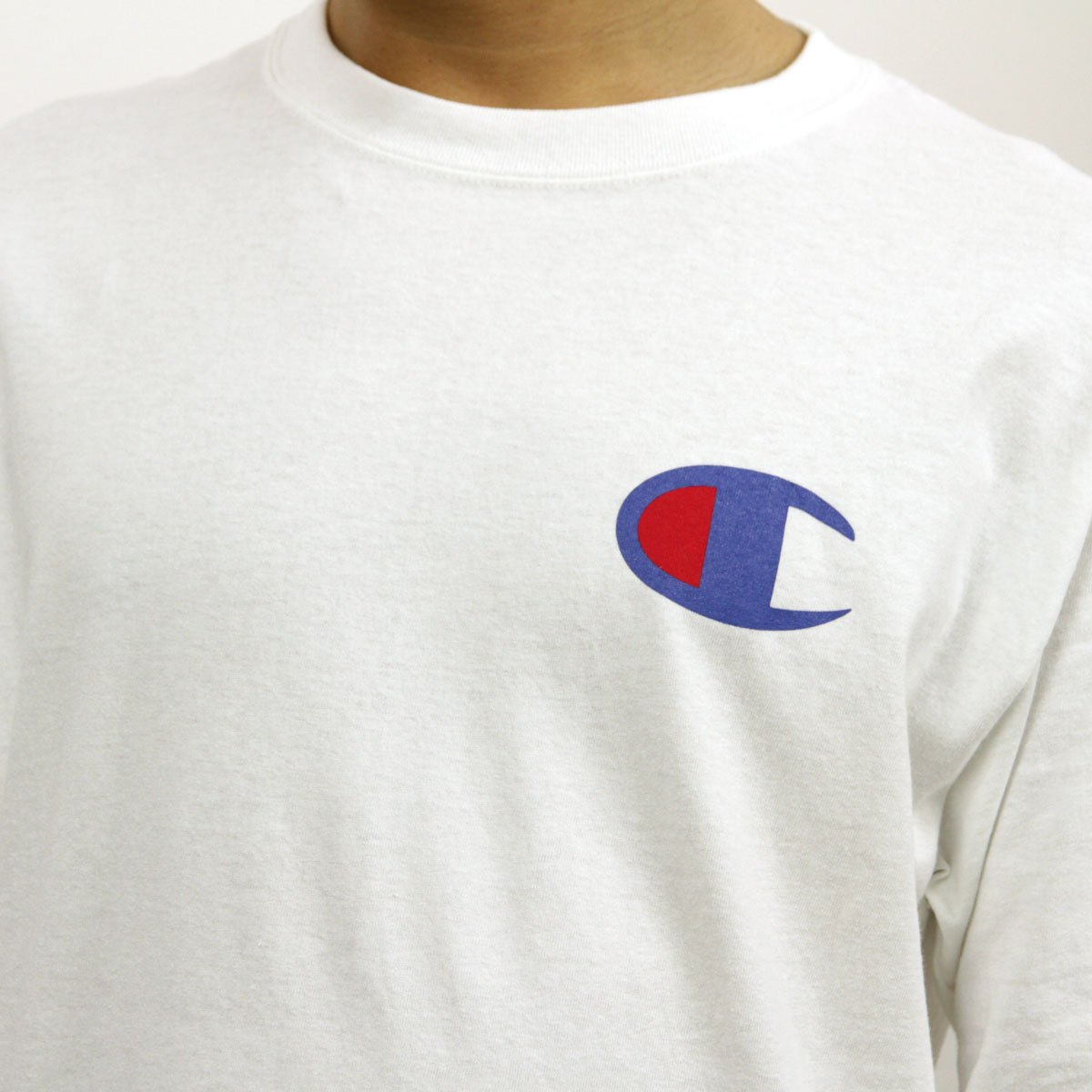 チャンピオン CHAMPION 正規品 メンズ 長袖Tシャツ L/S TEE T2229P Cotton Long Sleeve Tee 045-WHITE #549506 PATRIOTIC C LS