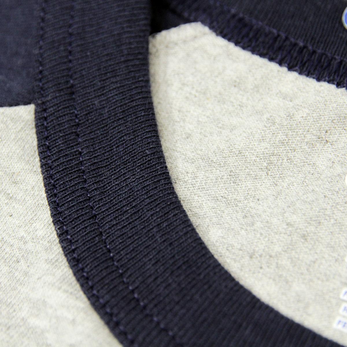 チャンピオン CHAMPION 正規品 メンズ 長袖Tシャツ RAGLAN TEE T1370 Raglan 3/4 Jersey C32-OXFRODGREY/NAVY