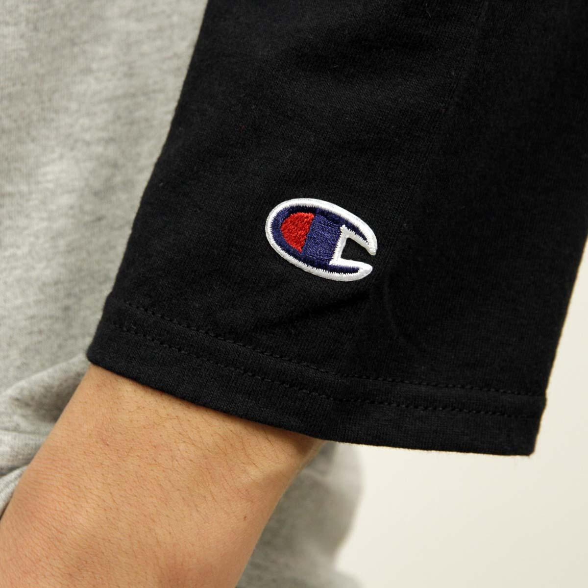チャンピオン CHAMPION 正規品 メンズ 長袖Tシャツ RAGLAN TEE T1370 Raglan 3/4 Jersey B48-OXFORDGREY/BLACK
