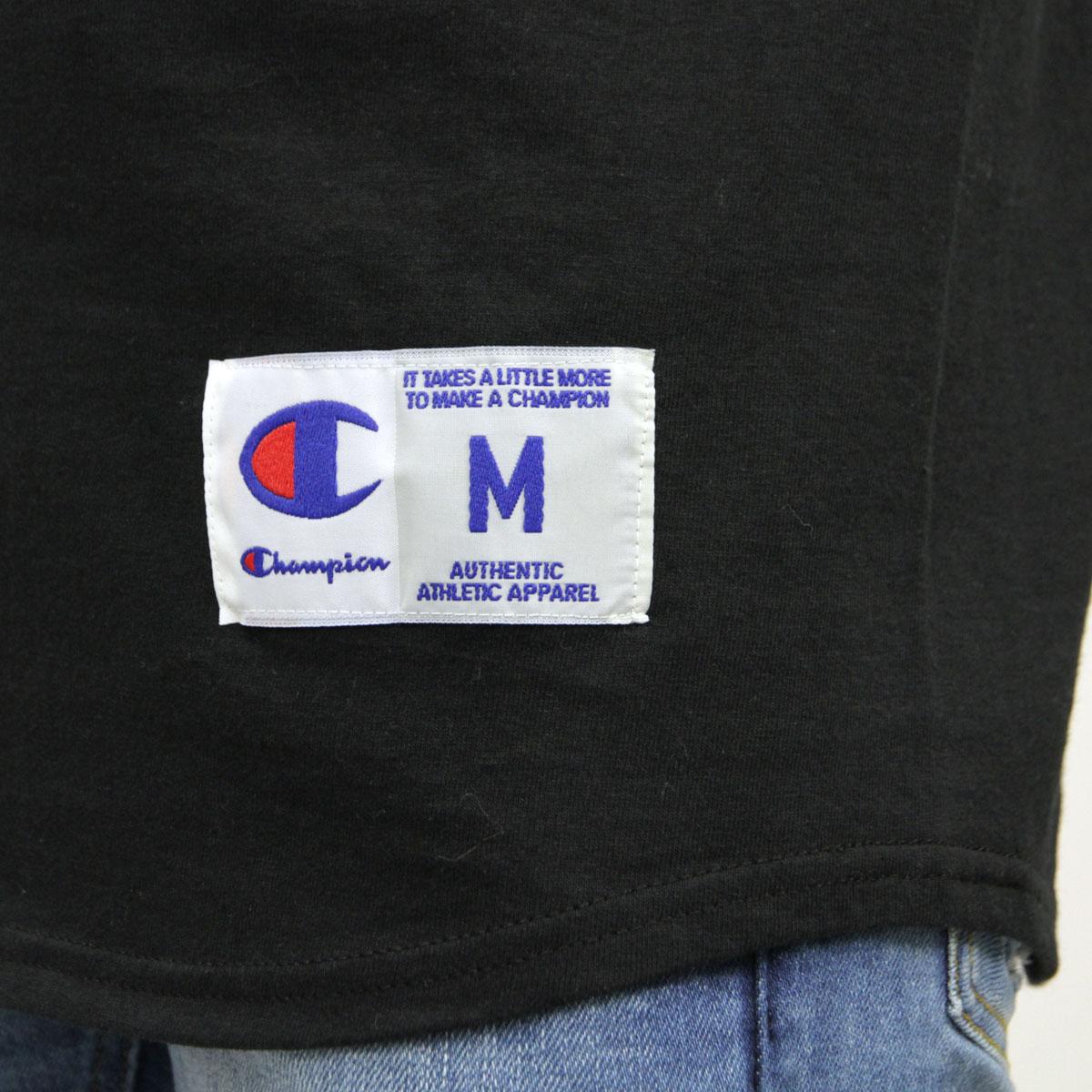 チャンピオン CHAMPION 正規品 メンズ 長袖Tシャツ RAGLAN TEE T1370 Raglan 3/4 Jersey 054-BLACK/WHITE