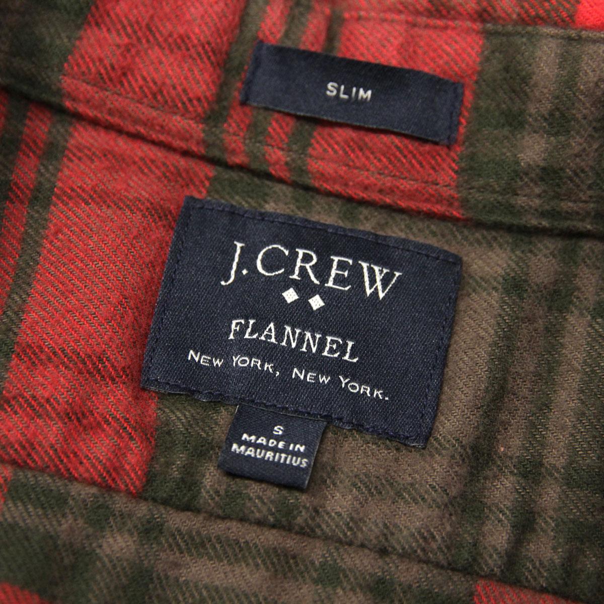 ジェイクルー J.CREW 正規品 メンズ 長袖シャツ SLIM PLAID FLANNEL SHIRT 92937