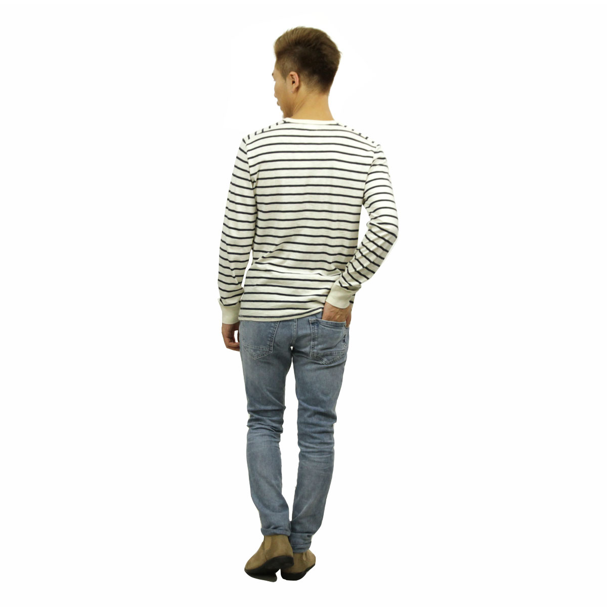 ジェイクルー J.CREW 正規品 メンズ 長袖Tシャツ LONG-SLEEVE DECK-STRIPED TEXTURED COTTON T-SHIRT c7931