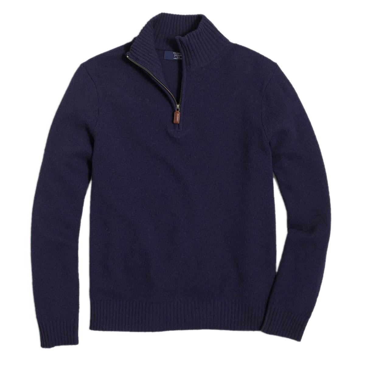ジェイクルー J.CREW 正規品 メンズ セーター LAMBSWOOL HALF-ZIP SWEATER 13956