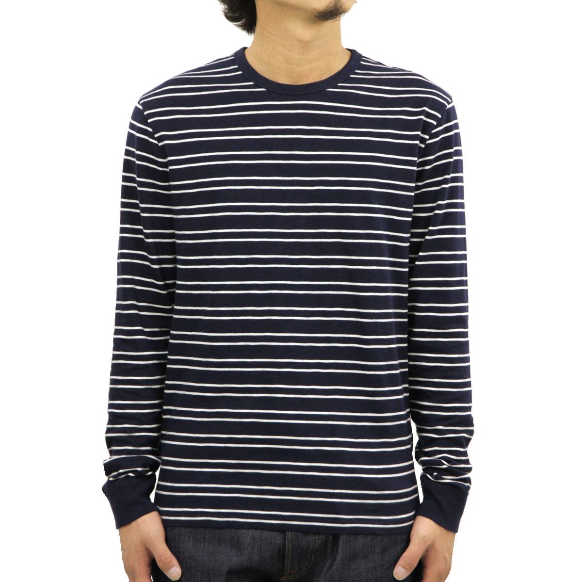 ジェイクルー J.CREW 正規品 メンズ 長袖Tシャツ LONG-SLEEVE SLUB DOUBLE-STRIPED T-SHIRT f4911