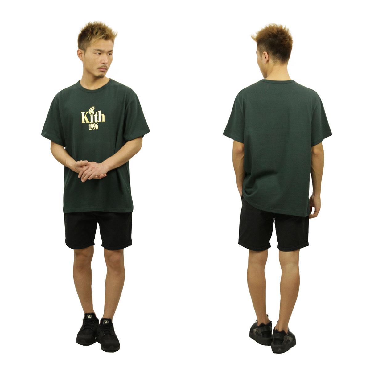 キス KITH 正規品 メンズ 半袖Tシャツ KITH 1996 TEE FOREST GREEN KH3083-106