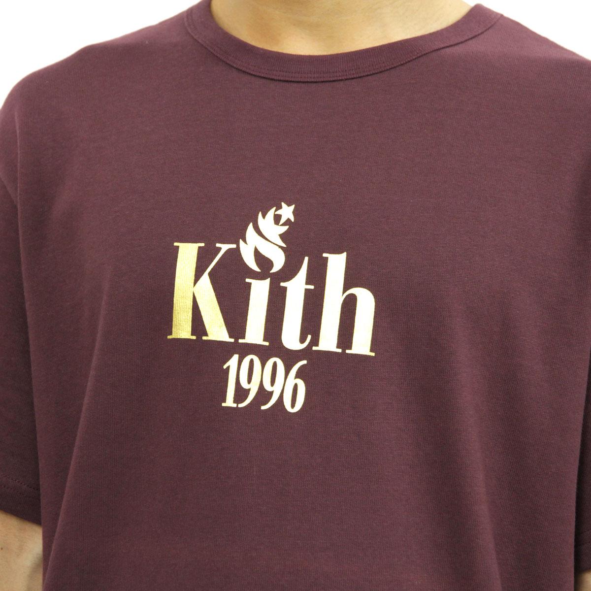 キス KITH 正規品 メンズ 半袖Tシャツ KITH 1996 TEE BURGUNDY KH3083-105
