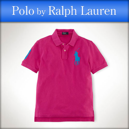 Polo Ralph Lauren kids POLO RALPH LAUREN CHILDREN regular article children\u0026#39;s clothes Boys polo shirt Classic-Fit Big Pony Polo #19673836 HOT PINK 10P12Jul14
