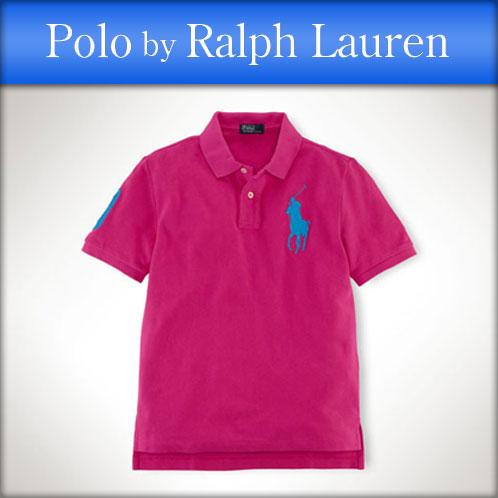 Polo Ralph Lauren kids POLO RALPH LAUREN CHILDREN regular article children\u0026#39;s clothes Boys polo shirt Classic-Fit Big Pony Polo #19673836 HOT PINK 10P12Jul14