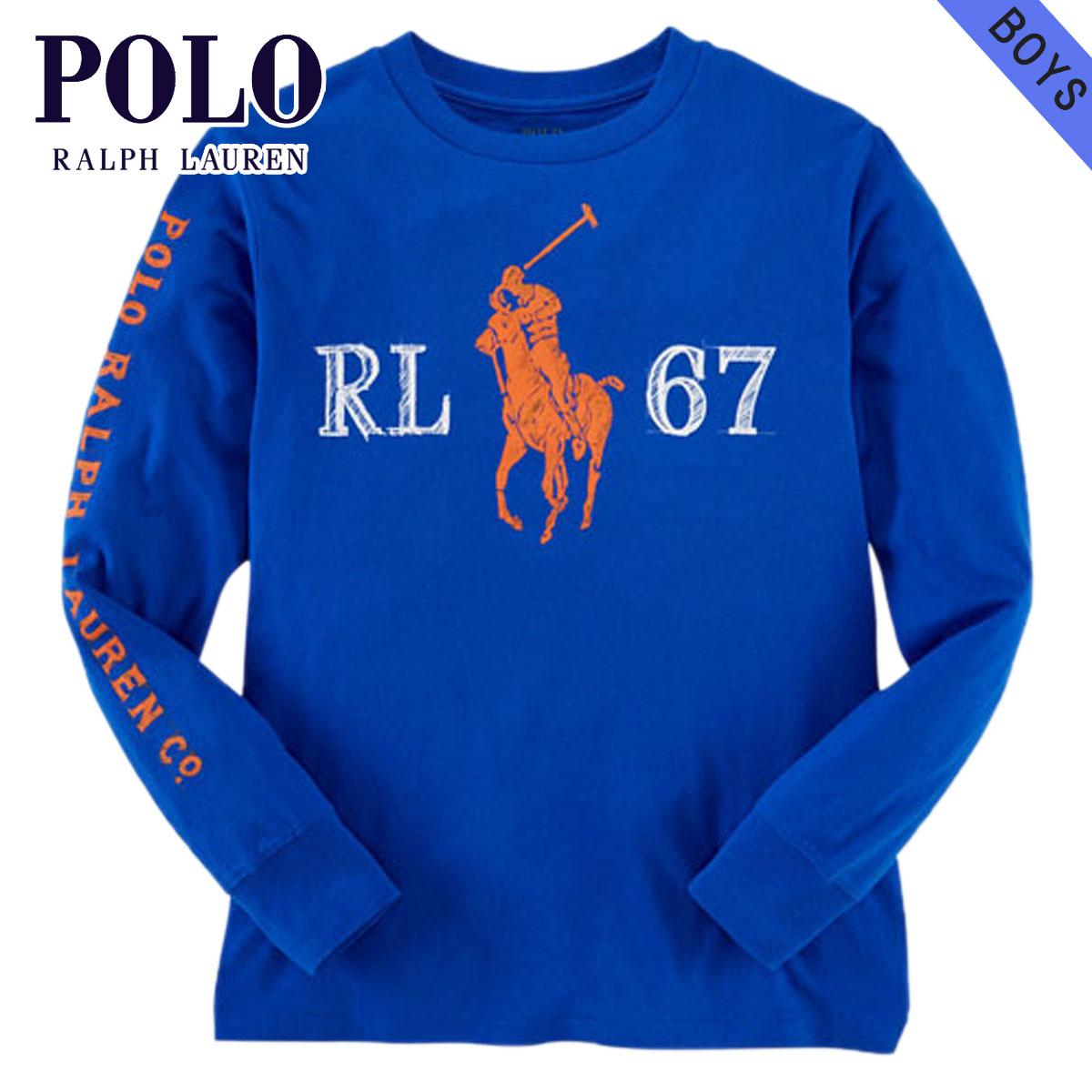 Poloralflorenkids POLO RALPH LAUREN CHILDREN genuine kids clothes boys long sleeve T shirt COTTON GRAPHIC TEE 48766436