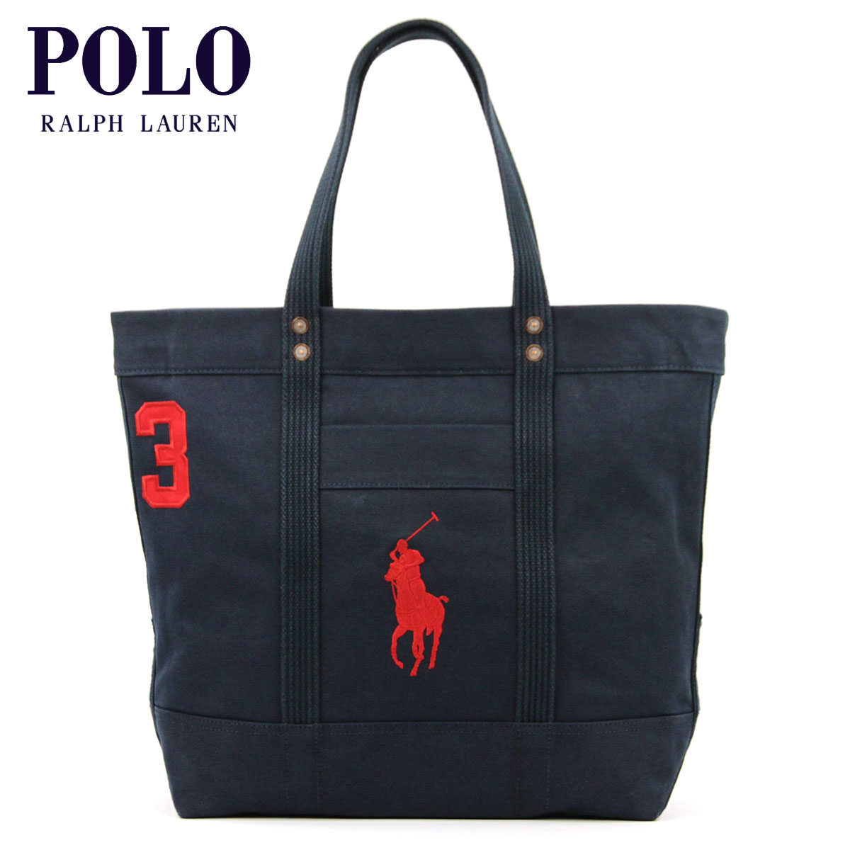 Polo Ralph Lauren genuine tote bag Canvas Big Pony Tote NAVY A05B B3C C8D D0E E06F fs3gm10P22Nov13