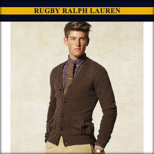 Rakuten Ichiba shop MIXON | Rakuten Global Market: Ralph Lauren rugby regular article men cardigan brown