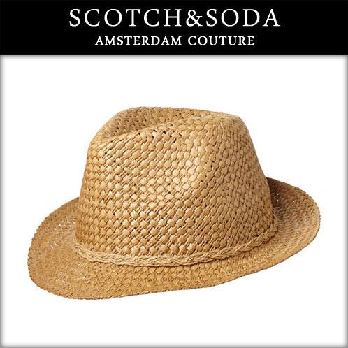 苏格兰威士卡苏打威士卡 & 苏打男士帽子喷草帽子编织材料 72101 06