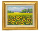 Painting Adachi, Masaki sunflower field F6 oil painting