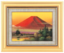 Picture Kayoko Okumura product red Fuji F4 oil painting image picture