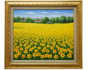 "Painting ""Sunflowers"" L... Austin F10 oil on canvas painting"