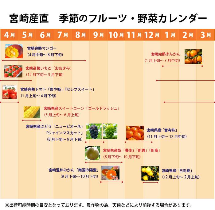 宮崎産直 季節の野菜・フルーツカレンダー