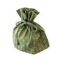 Lunch box for drawstring bags hemp olive green fs3gm