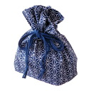 Lunch box for DrawString bag cannabis leaf dark blue