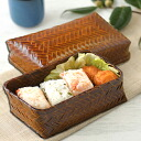 Lacquered aging eye bamboo basket lunch box (-shunkei