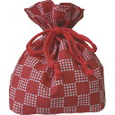 Lunch box for DrawString bag city pine Red