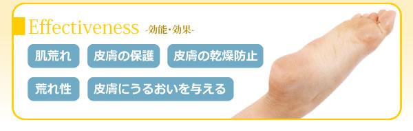 効能·効果 肌荒れ、皮膚の保護、皮膚の乾燥防止、荒れ性等