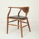 Arm dining chair 850 of the walnut